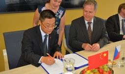 Delegation of a Chinese university visited the University of South Bohemia in České Budějovice