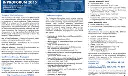 Přihlaste se na listopadové Inproforum - REGISTRACE PRODLOUŽENA DO 16. 10. 2015