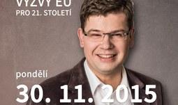 Europoslanec Jiří Pospíšil na EF - Výzvy EU pro 21. století