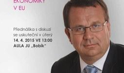 Ministr průmyslu a obchodu vystoupí na EF